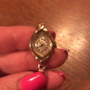 Vintage Bulova 10k gold ladies watch - serviced